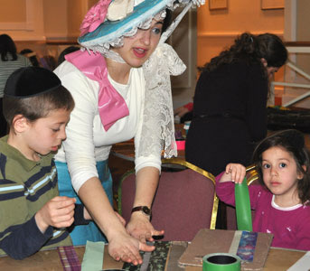 Duct tape fun on Passover at the Heritage Resort and Spa